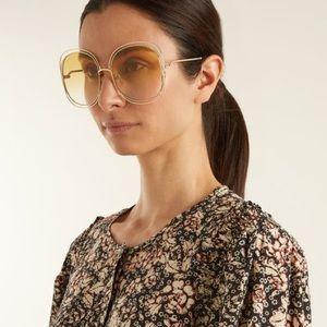 Authentic Chloe Carlina Square Sunglasses